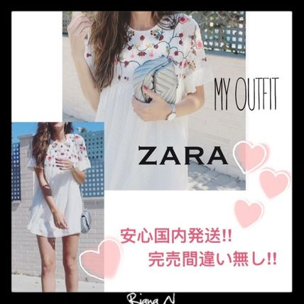 "Too cute, definitely a sold out ""ZARA"" floral embroidered"