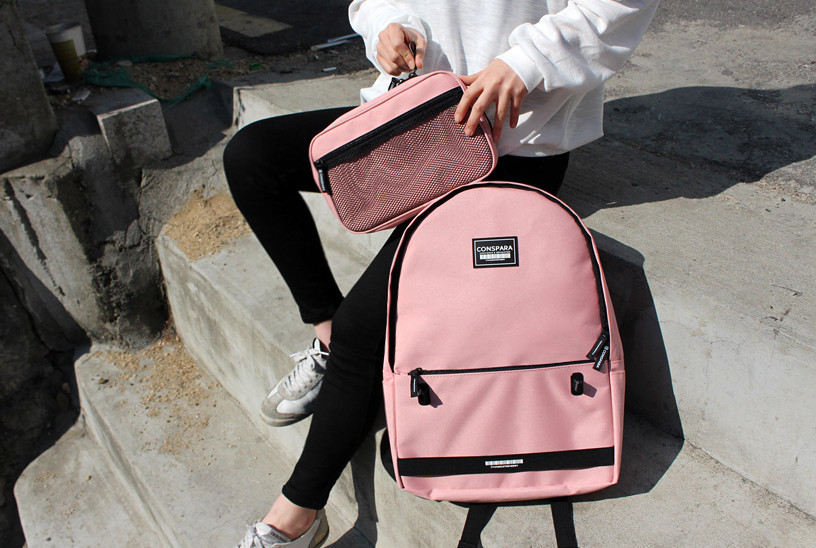 ◆CONSPARA◆ MESH POUCH BACKPACK (4 COLOR)