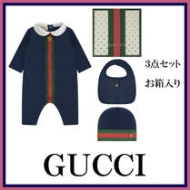 GUCCI★ボーイズネイビーベビーギフト3点セット★お箱入り