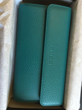 Gucci 50% off sale long wallet logo turquoise