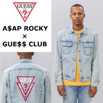 ★送関込*GUESS x A$AP Rocky*Unisex Denim Jacket★