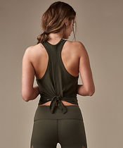 Two With One Singlet*スリットを結んで長さアレンジ*dark olive
