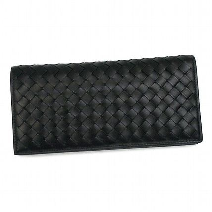 BOTTEGA VENETA weave long wallet black