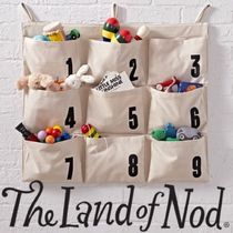 The Land Of Nod☆数字プリントのキャンバス収納ポケット