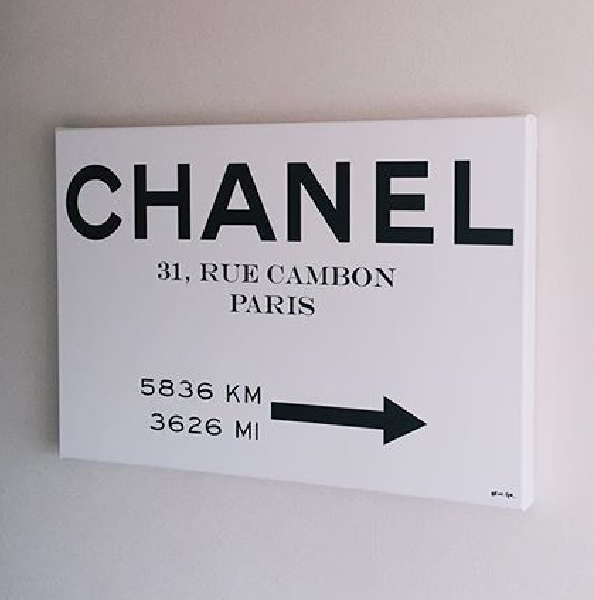 Oliver Gal★Couture Road Sign Minimalist★キャンバス114x76