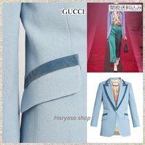 【国内発送】GUCCI★RUNWAY Peak-lapel long-line blazer
