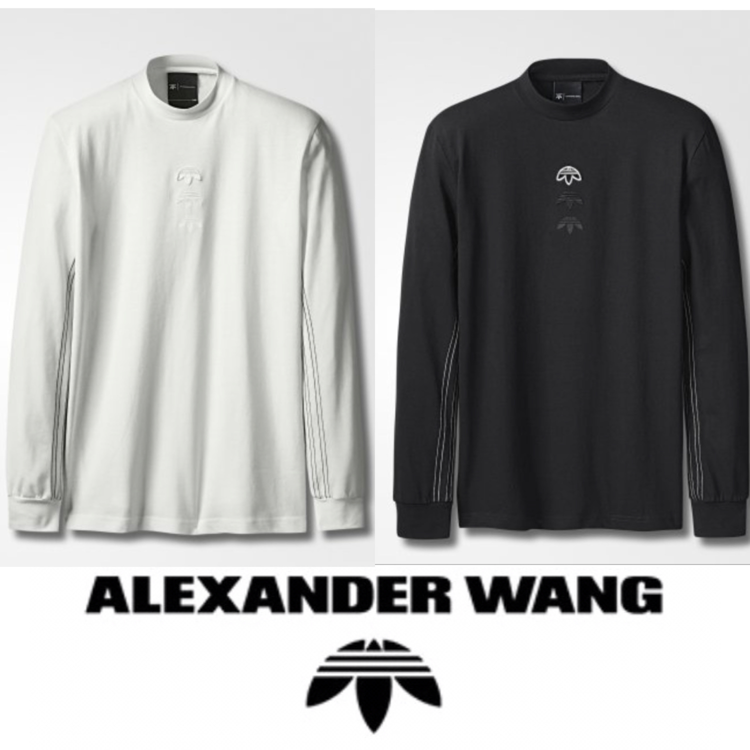 ADIDAS ORIGINALS BY ALEXANDER WANG  ロゴロングスリーブシャツ