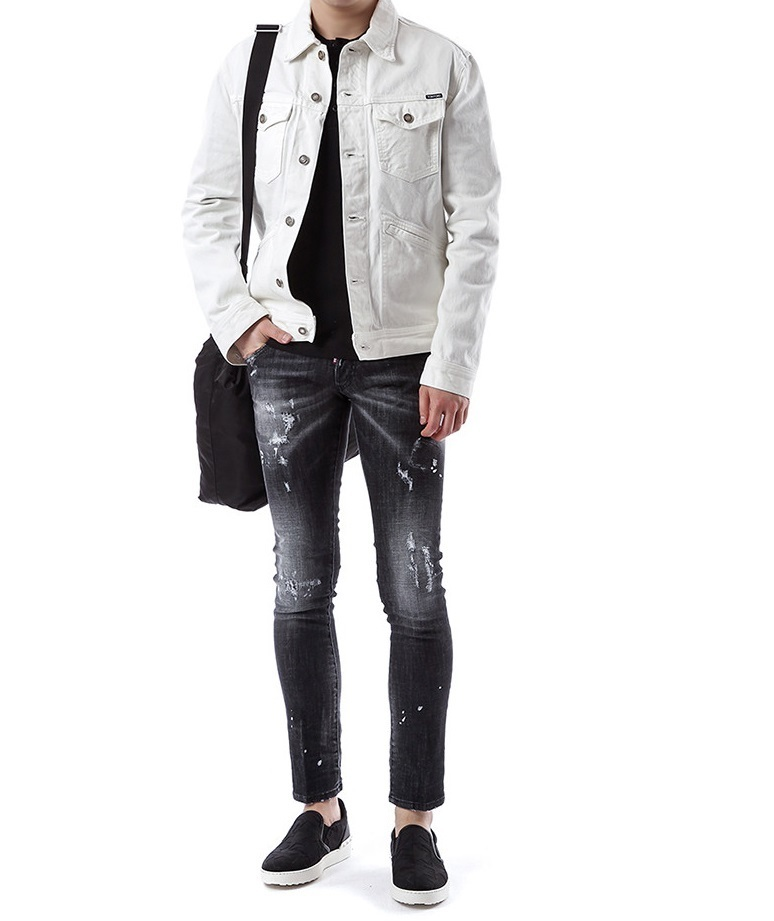 DSQUARED2 17SS ペンキスポット BLACK WASH ジーンズ_CLEMENT