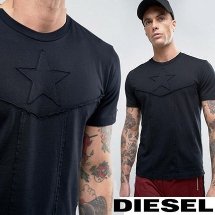 Diesel T-CAPTAIN Star embroidered T shirts