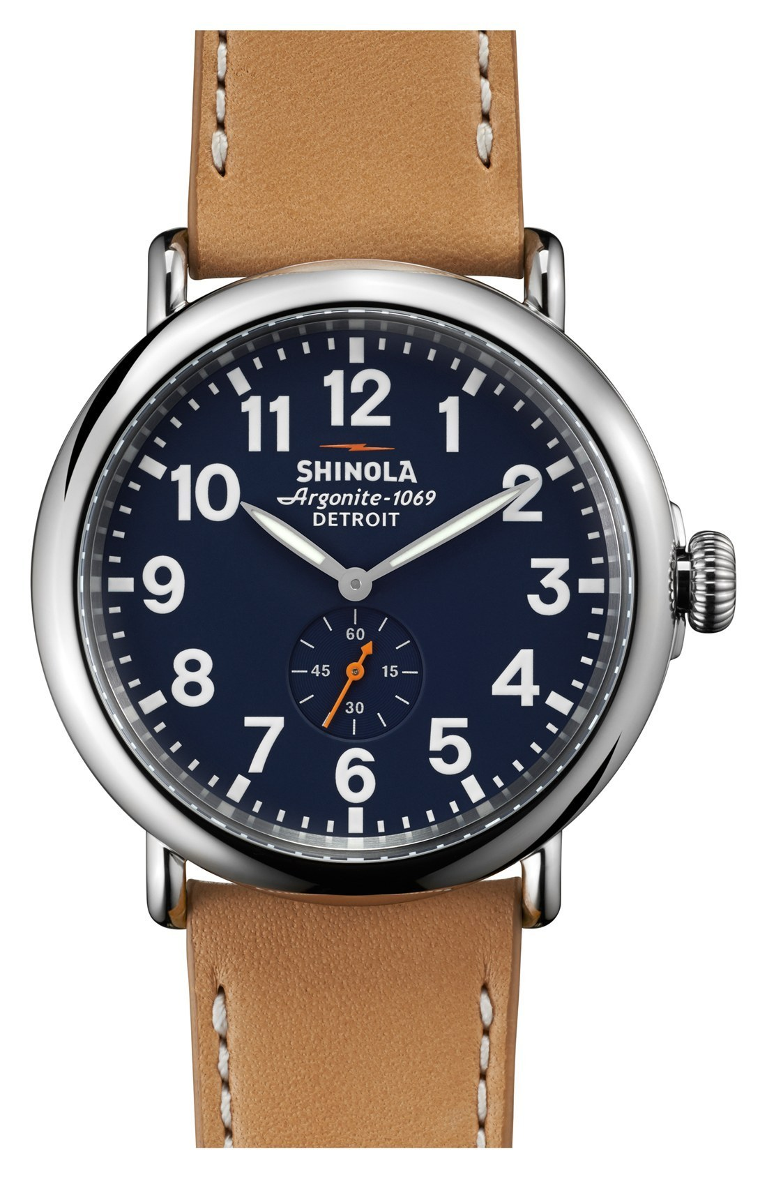 送料込!!SHINOLA★The Runwell' Leather Strap ★メンズ腕時計
