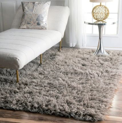 Color / hair extra long fluffy rugs 91.44 x 3 'x 5'