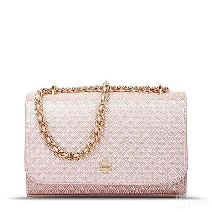 国内★Tory Burch ショルダーバッグ MARION EMBOSSED Rose Gold