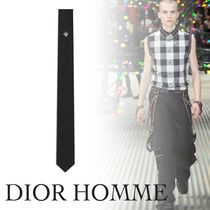 ◇ DIOR HOMME ◇ シルクタイ 蜂刺繍ネクタイ/ブラック