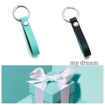 【Tiffany & Co】Snap Loop Key Ring♪(Tiffany blue , Black)