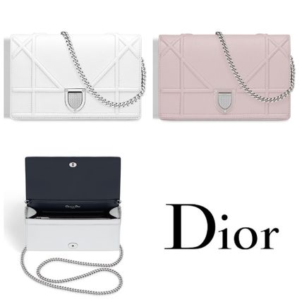 "2016 AW Dior ""DIORAMA"" the WALLET ON CHAIN clutch"