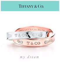 【Tiffany & Co】INTERLOCKING CIRCLES RING in rebedo metal