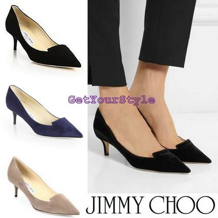 USA limited edition Jimmy Choo Allure50mm suede pumps