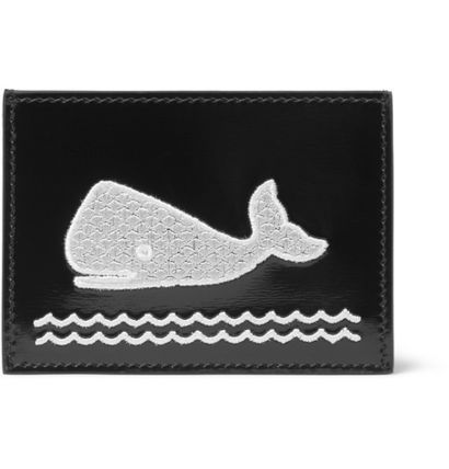 And THOM BROWNE Polished leather cardholder