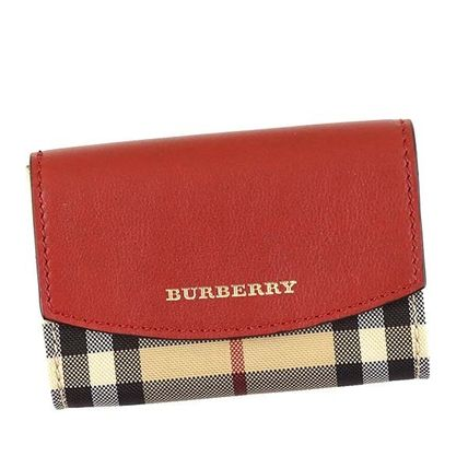 CHESHAM Burberry cardholder 4044816:PARADE RED-Red