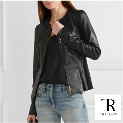 THE ROW cool classy Anasta leather jacket