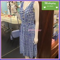 【kate spade】嬉しい再販♪island stamp tie back dress★