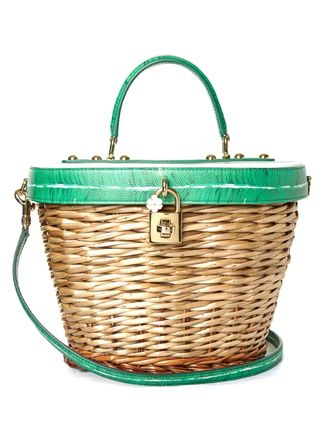 Dolce & Gabbana leather wicker basket bags