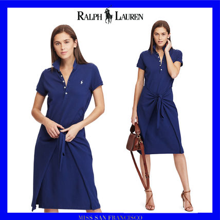 RL is cool out POLO short sleeve Tie Front dress