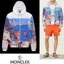 MONCLER*JEANCLAUDE リゾート柄スポーツジャケット 17SS