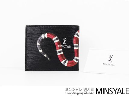 Snake print leather wallet[London department store new item]