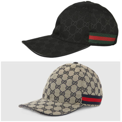 GUCCI GG canvas base ball cap and black / Navy