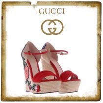 ★★GUCCI《グッチ》WEDGE ESPADRILLE SANDALS★送料込み★★