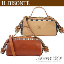 IL BISONTE キャンディバッグ 2WAY A2235..RI TESS.RIGHE