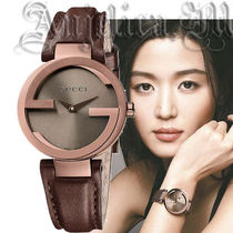 ★大人気★GUCCI Interlocking G Small Brown Dial YA133504