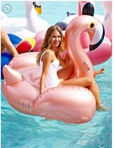 Rose Gold Luxe Flamingo Pool Float  浮き輪 フラミンゴ