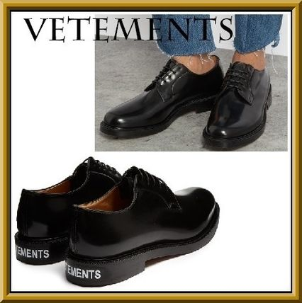 17SS新作VETEMENTSxChurch's leather derby shoesドレスシューズ
