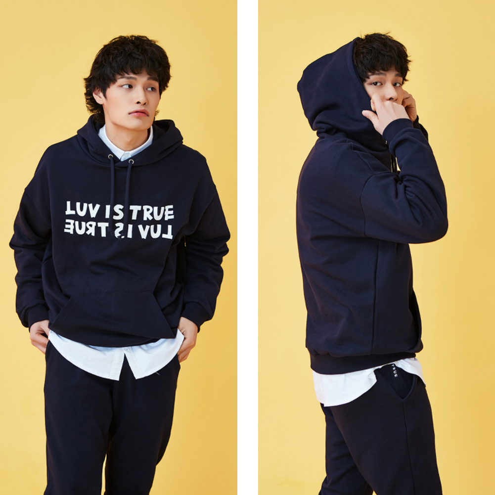 ★韓国の人気★LUV IS TRUE★(UNISEX)KL LOGO HOODIE★3色