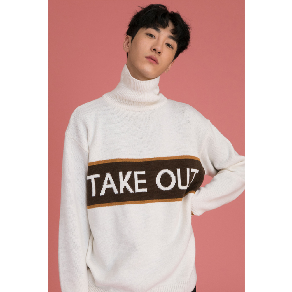 ★韓国の人気★LUV IS TRUE★(UNISEX)CE TAKE OUT KNIT★2色