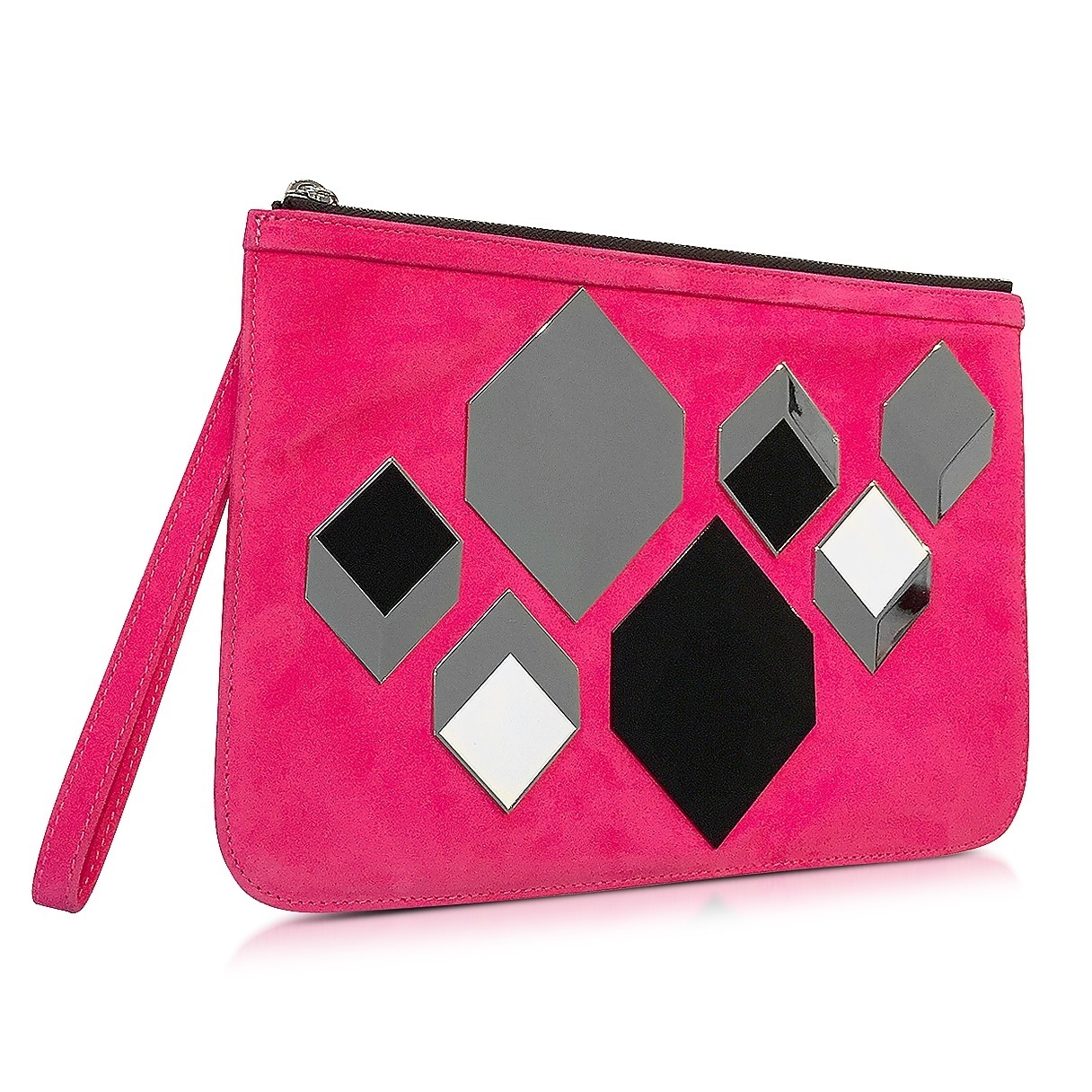 ★Pierre Hardy★ Cube Pink Suede Pouch ポーチ 関税込