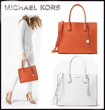 MICHAEL KORS★MERCER LARGE LEATHER TOTE  国内発送!送料込!