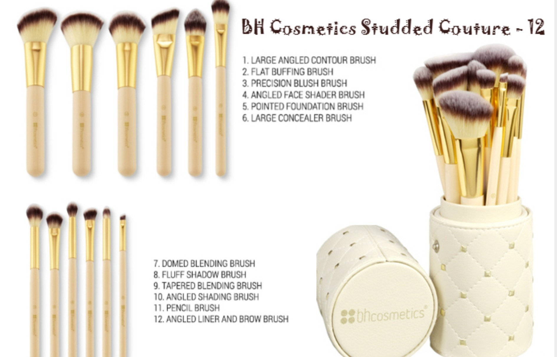 Bh Cosmetics☆12本ブラシセット Studded Couture