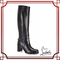 【Christian Louboutin】Napoleo 70 Chain-Trim Leather Boots