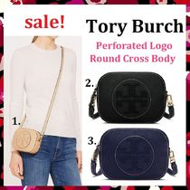 セール Tory Burch Perforated Logo Round Cross Body 斜め掛け
