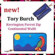 セール Tory Burch Kerrington Parrot Zip Continental Wallet