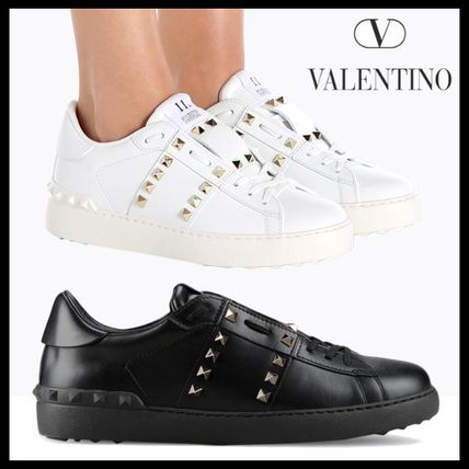 VALENTINO rock studded entitled sneakers