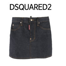 D SQUARED2 ★ LEATHER LOGO PATCH スカート