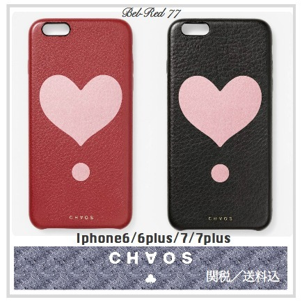 【関税送料込】★CHAOS★LOVE HEART iphoneケース☆Red Black