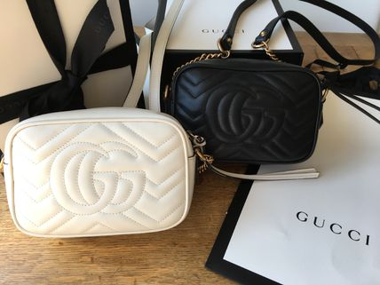 GUCCI ショルダーバッグ・ポシェット GUCCI 新作 GG Marmont  ミニバッグ 即発 他6色買い付け可能(2)