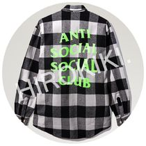 S-XL★Anti Social Social Club WOODMAN FLANNEL フランネル 黒