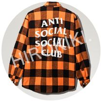 S-XL★Anti Social Social Club SEE YOU LATER FLANNEL オレンジ