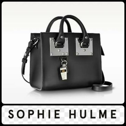 SOPHIE HULME Saddle Leather Albion Box ToteBag shipping /